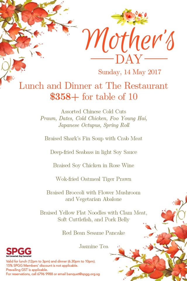 Mother's Day Lunch & Dinner at The Restaurant