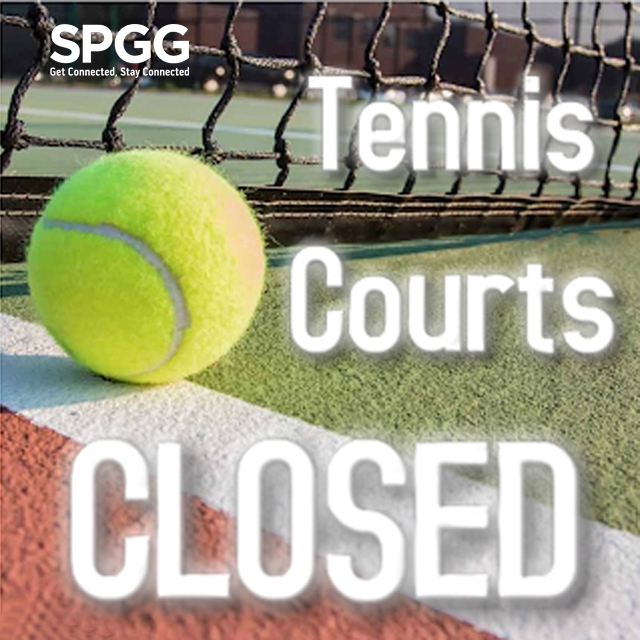 Closure of Tennis Courts for Venue Build-Up for SP@65 Gala Dinner